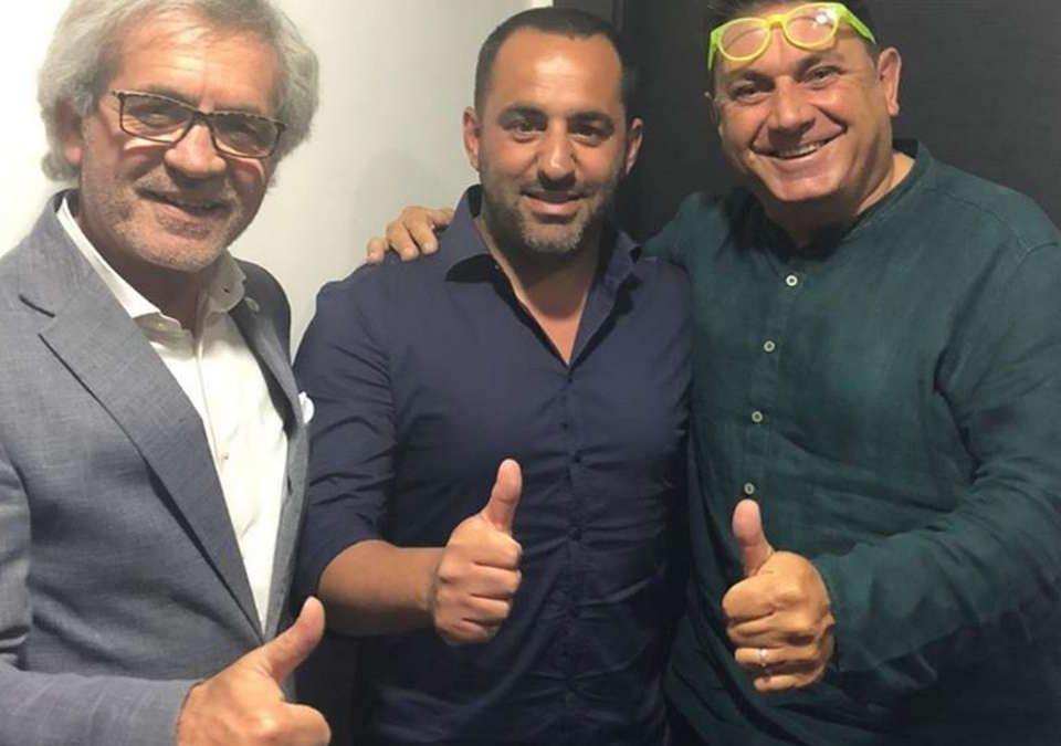 Patron Pellegrino, mister De Stefano e il d.s. Filosa